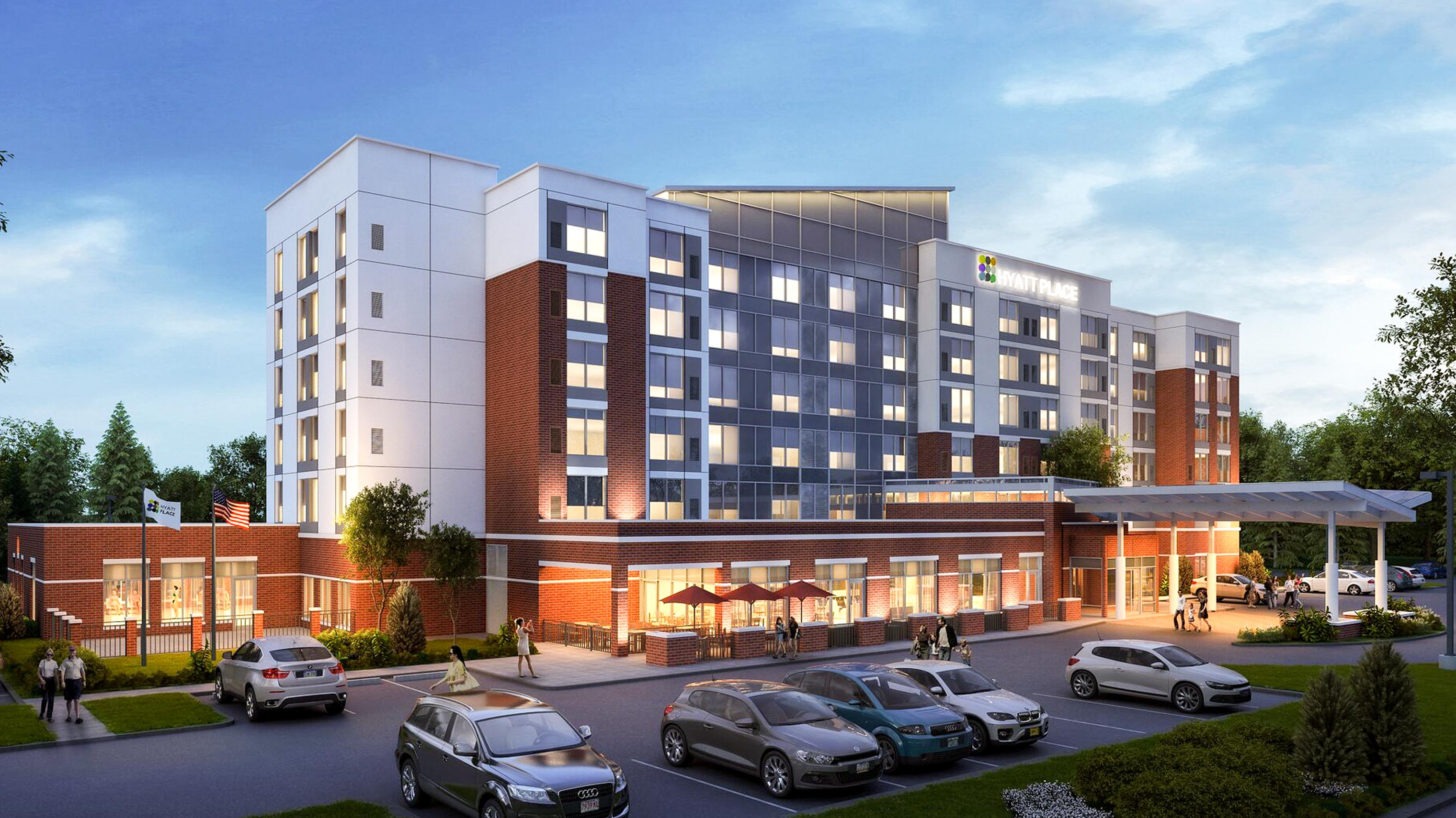 Hyatt Place rendering Flint MI