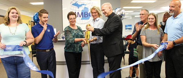 Mid-Michigan Business Center ribbon cutting, Flint Twp, MI