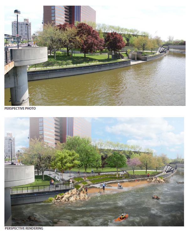 Rendering of Amphitheater Block, Flint River Restoration Project