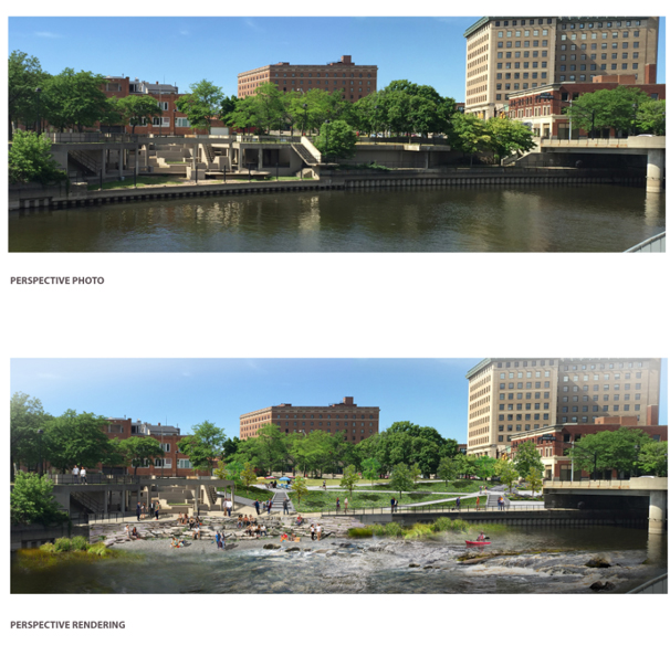 Rendering of Grand Fountain Block, Flint River Restoration Project