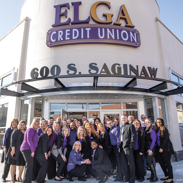 ELGA Credit Union ribbon cutting on opening of downtown Flint location