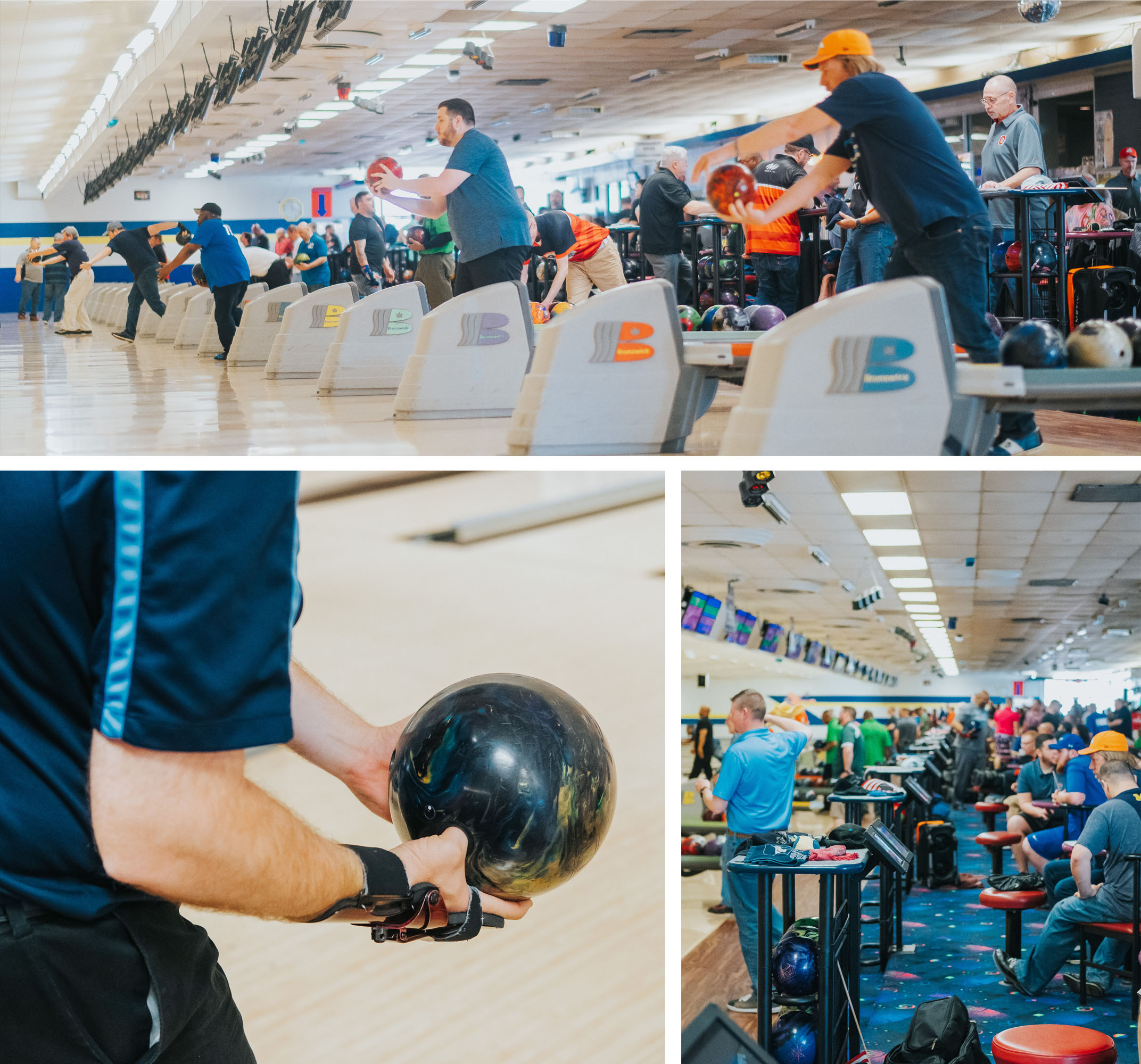 Bowlers at the United States Bowling Congress Michigan State Championship
