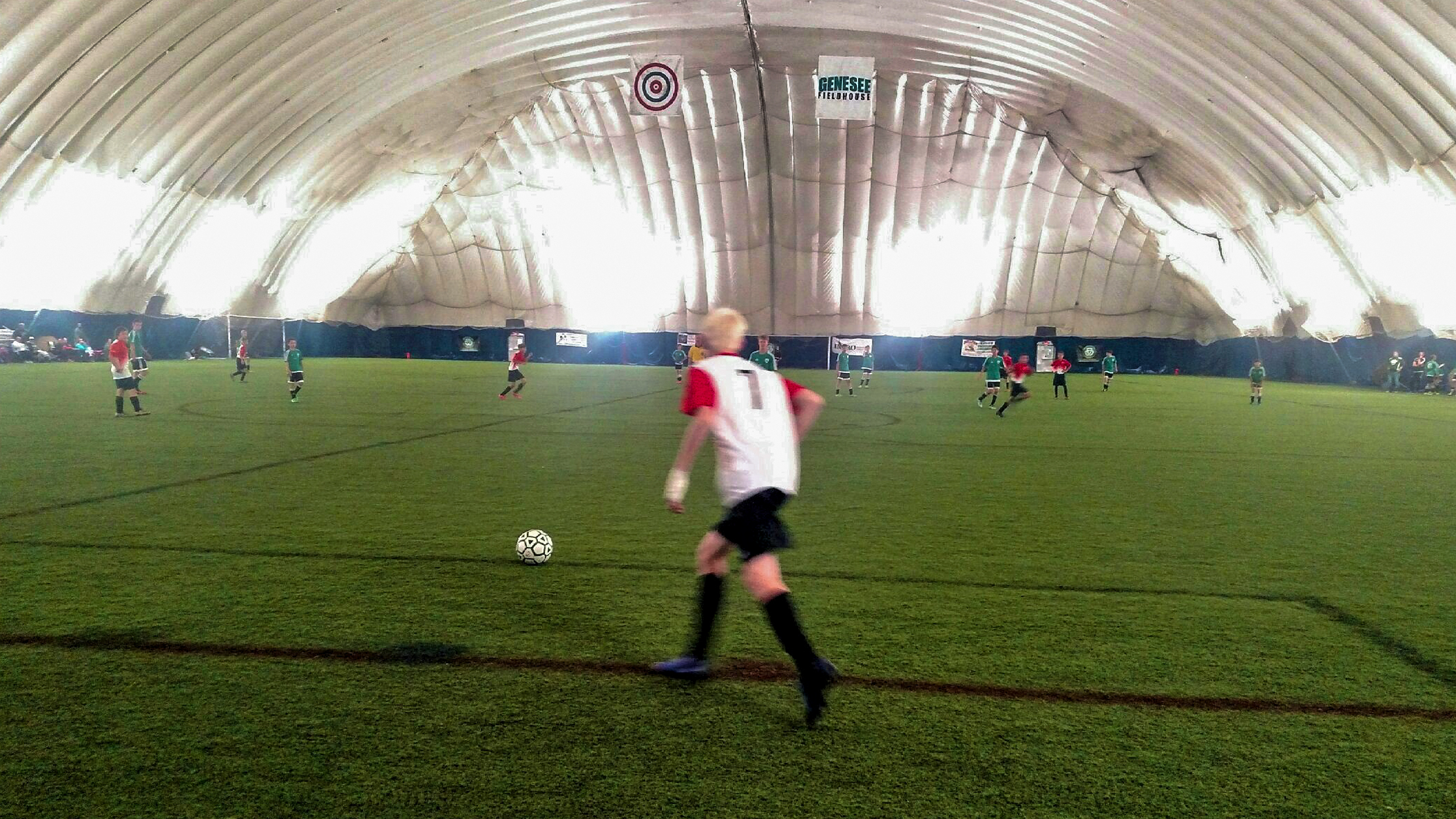 Soccer at the Genesee Fieldhouse in Grand Blanc, MI