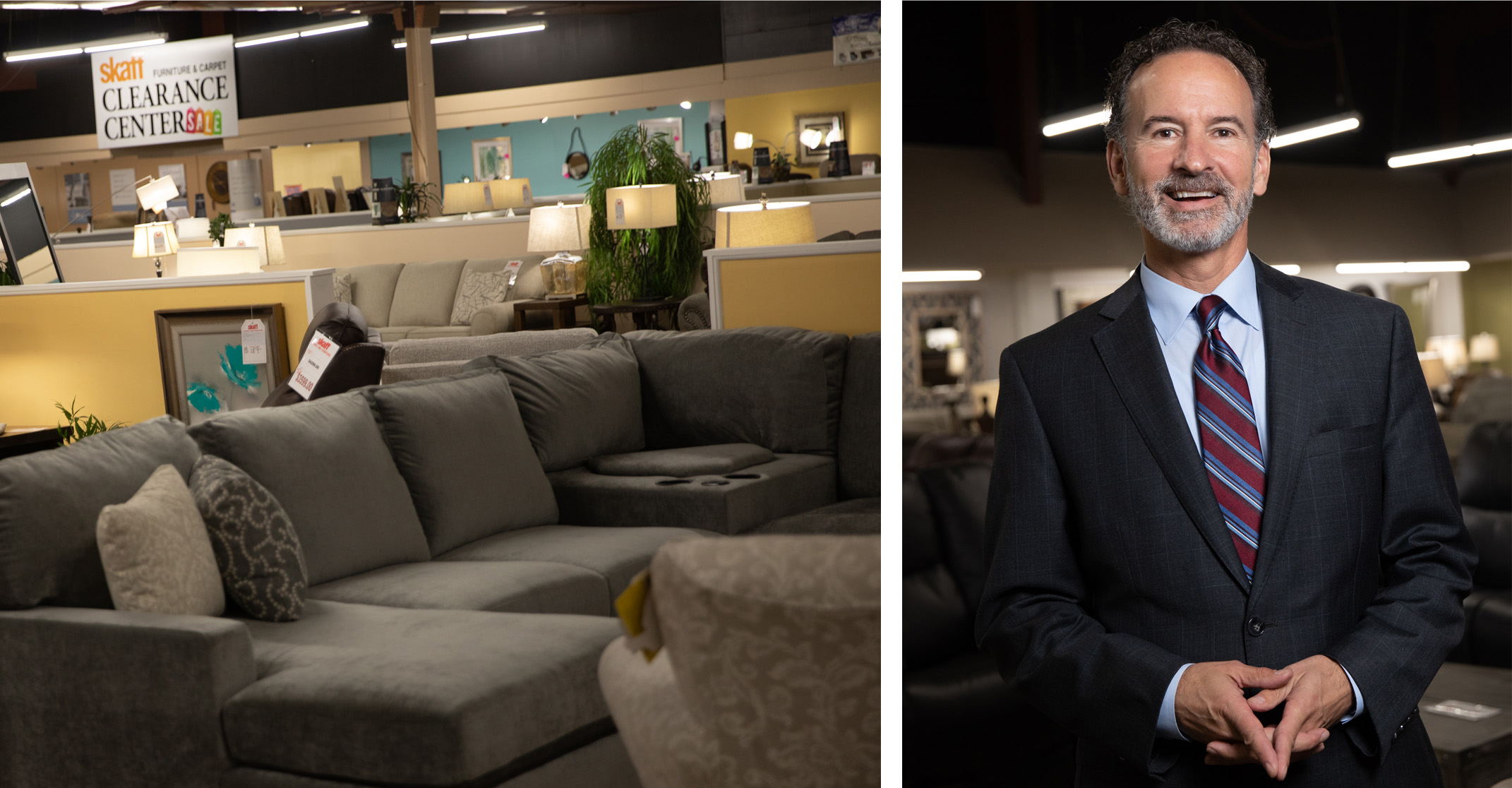 Mike Skaff, co-owner of Skaff Furniture Carpet One in Flint, MI