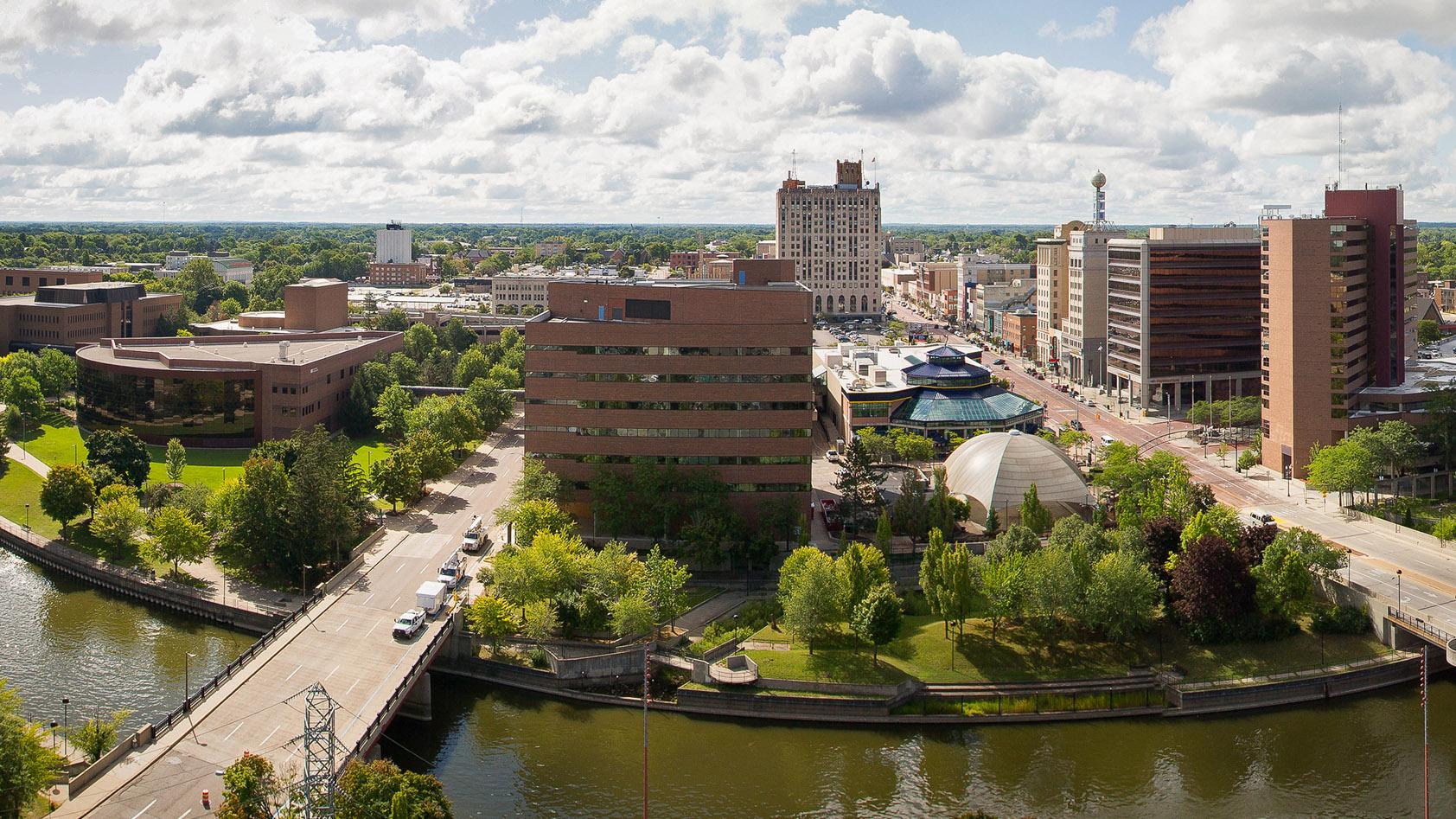 Skyline showing the University of Michigan-Flint campus
