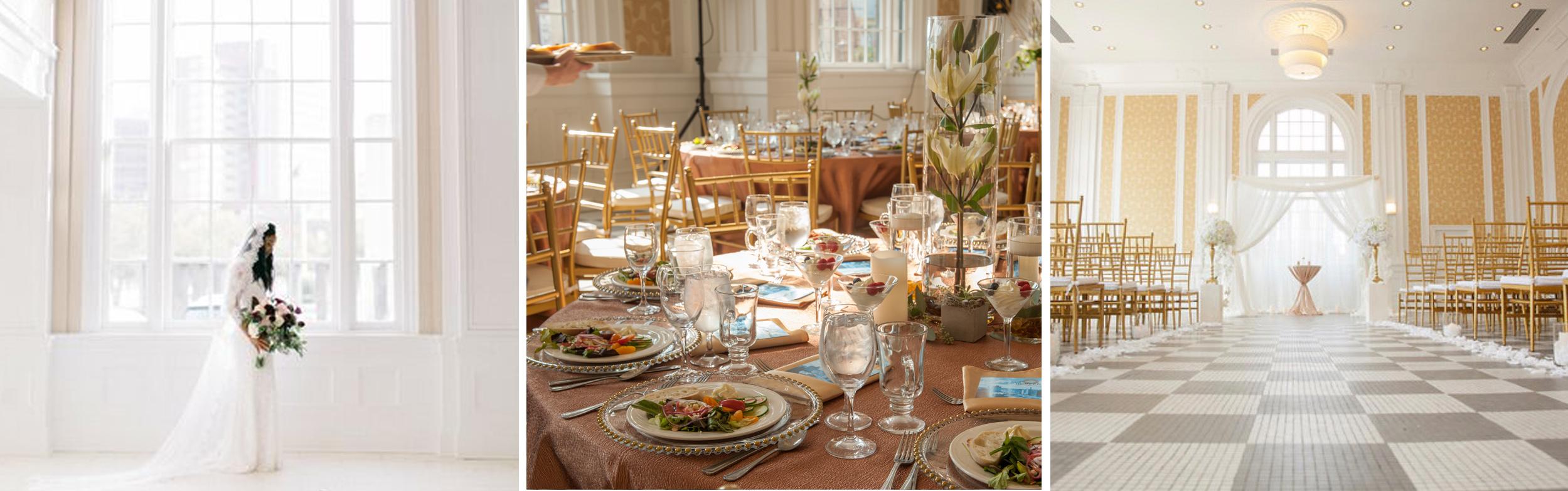 Weddings held in The Durant ballroom