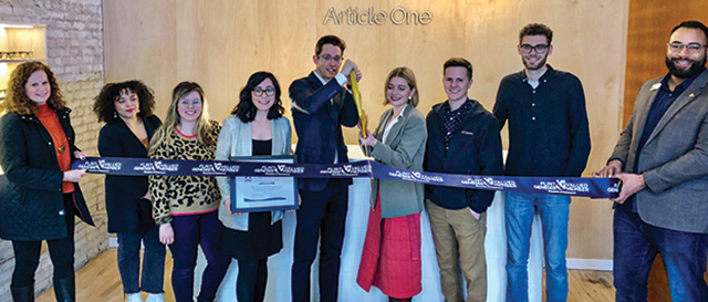 Article One ribbon cutting