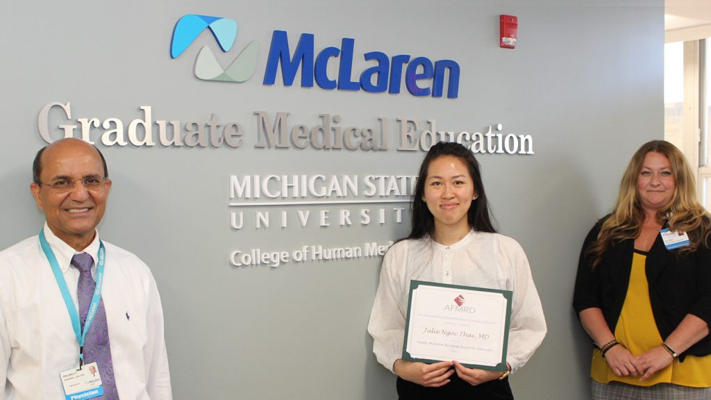 """Julie Thai, MD, MPH """"Resident of the Year."""""""