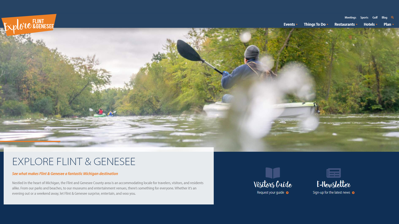 Explore Flint & Genesee new website