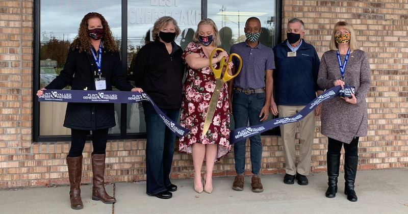 Blondie's Best Ever Cheesecake holds a ribbon cutting