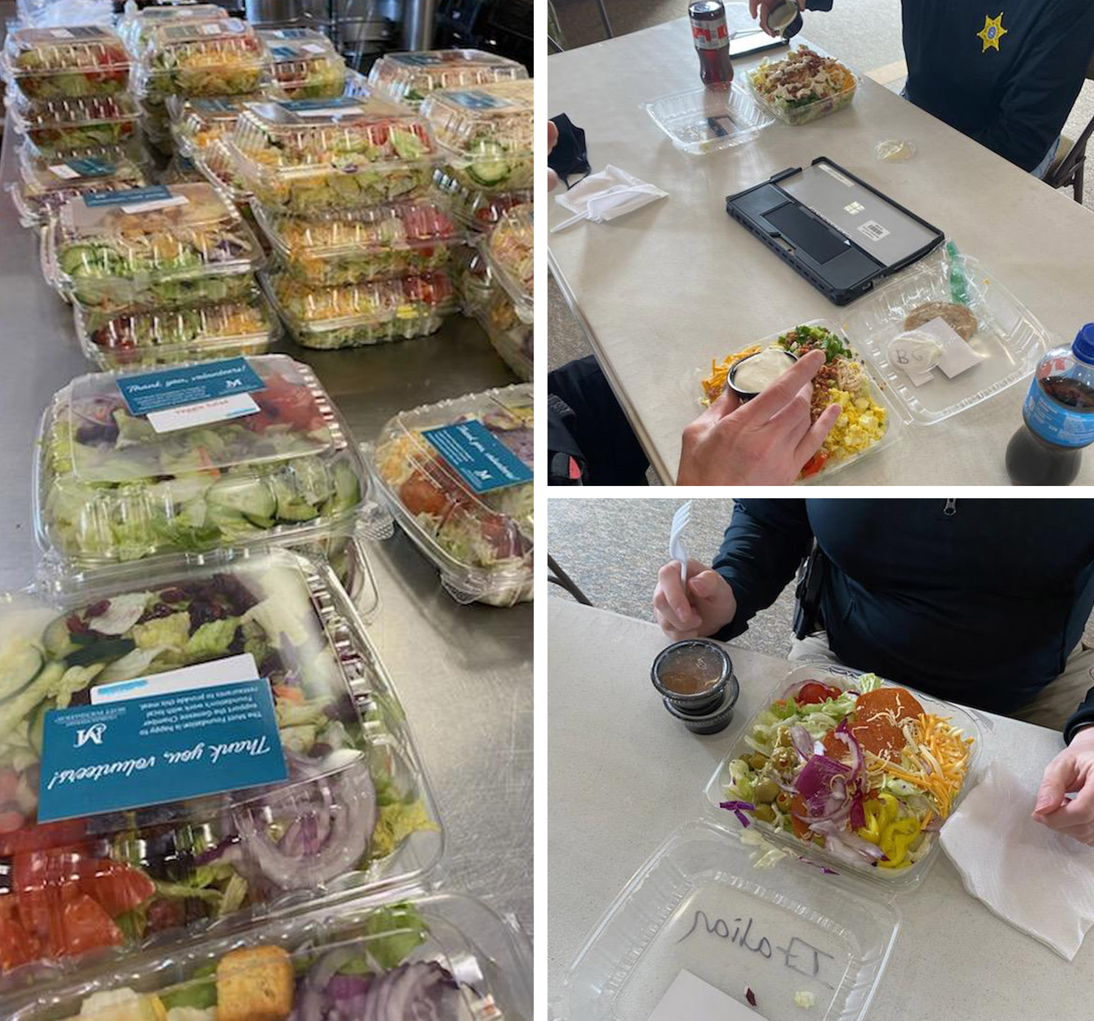 Meals provided by the Mott Foundation for volunteers at a clinic