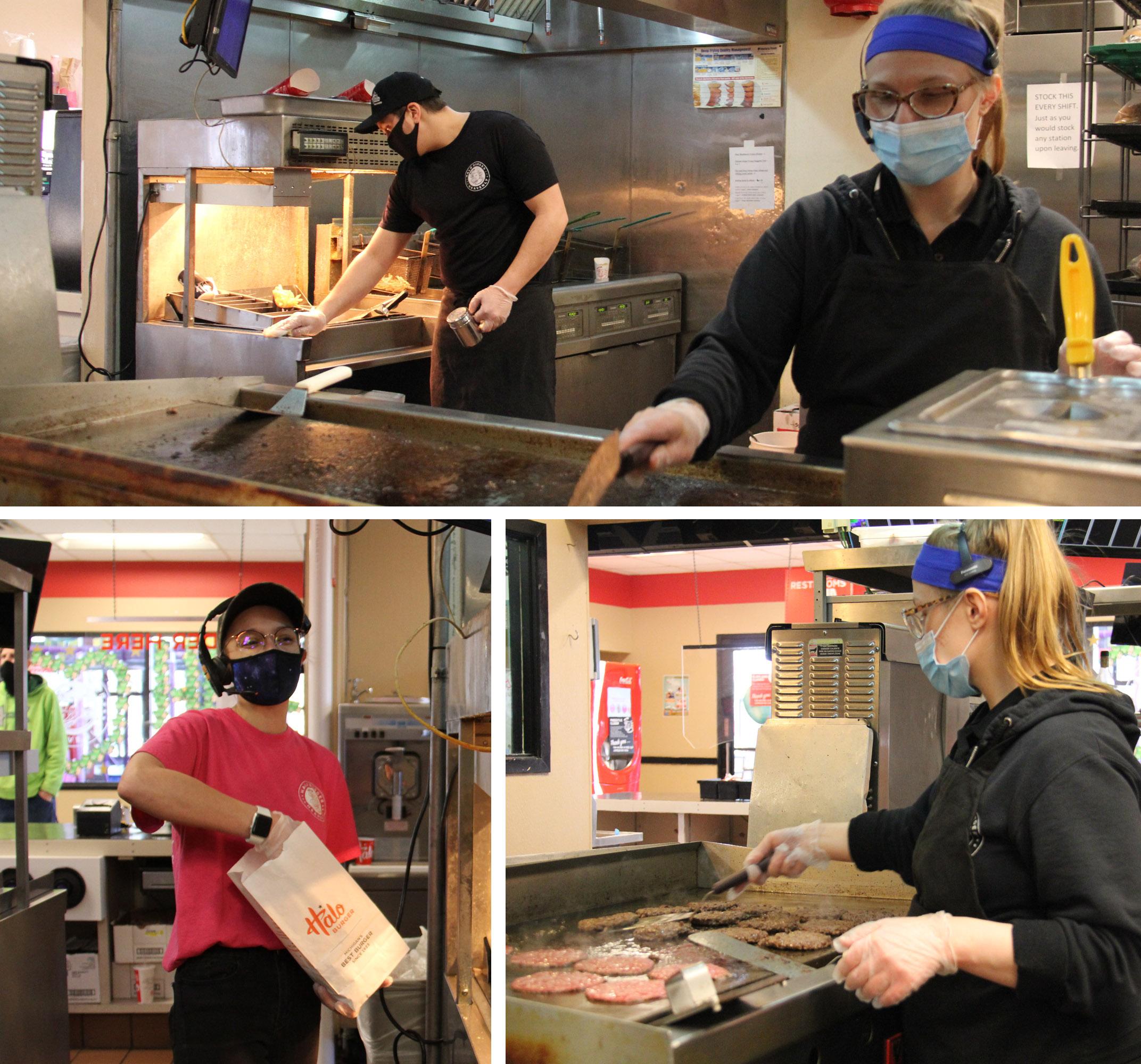 Employees at Halo Burger, Grand Blanc, MI