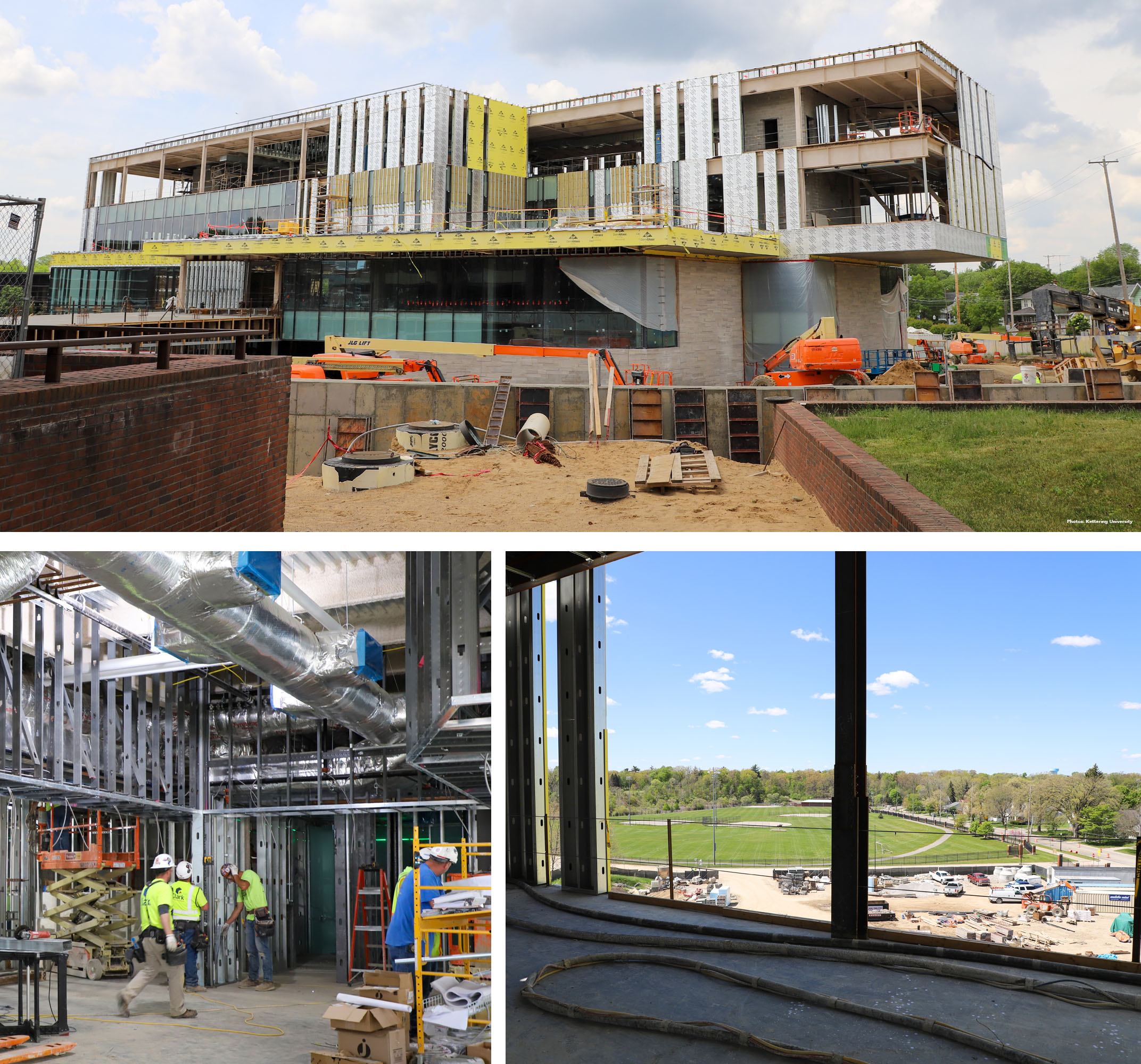 Construction of Kettering University's new learning center