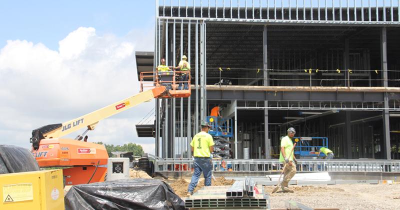 Construction of Elga Credit Union's new headquarters