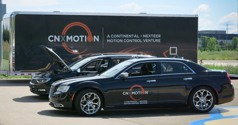 CNXMotion testing cars at test track at Kettering