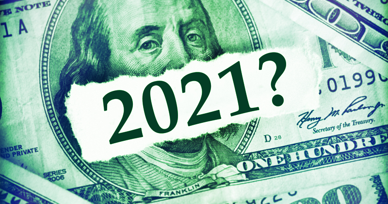 Money with the year 2021?