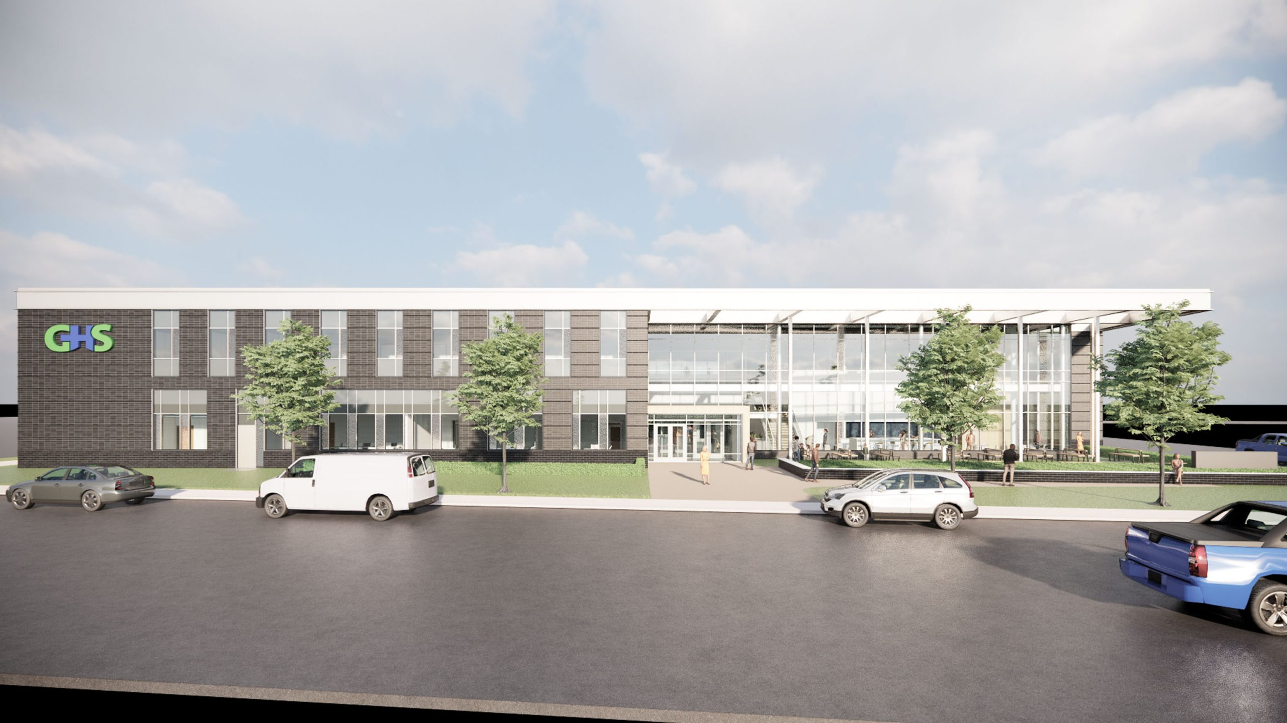 Rendering of the new Genesee Health System building