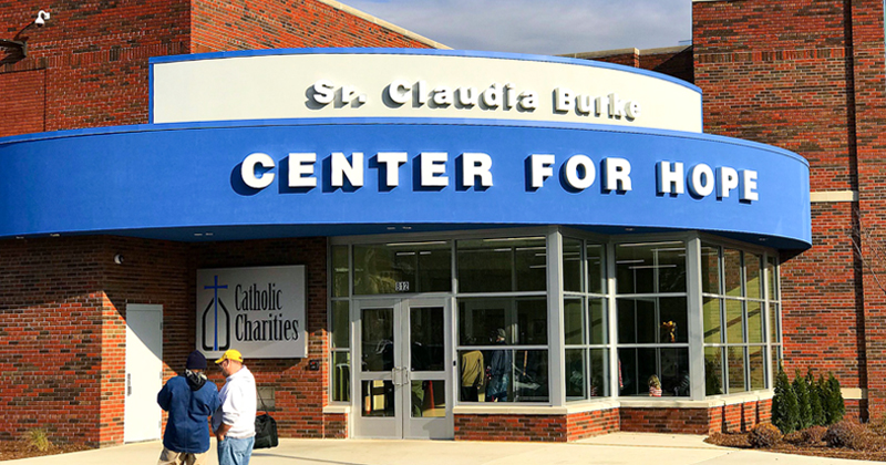 Catholic Charities Center for Hope building