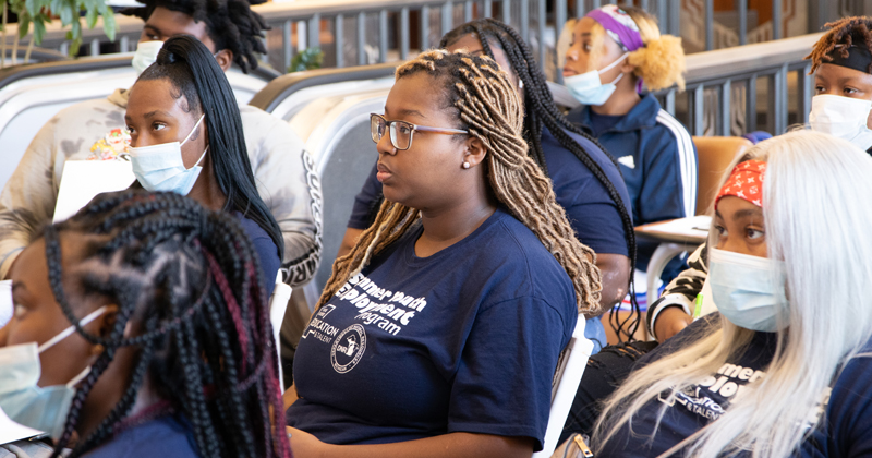 students learn about summer employment opportunities