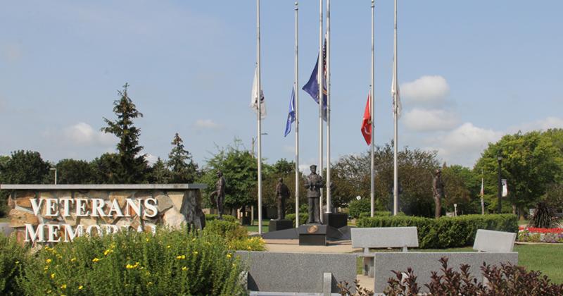 Veteran's memorial at Swartz Creek municipal offices