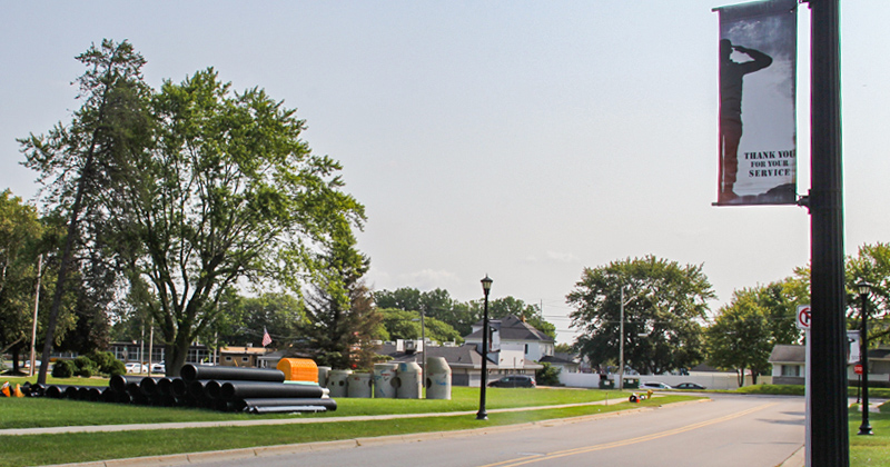 Road improvements on Morrish Road in Swartz Creek