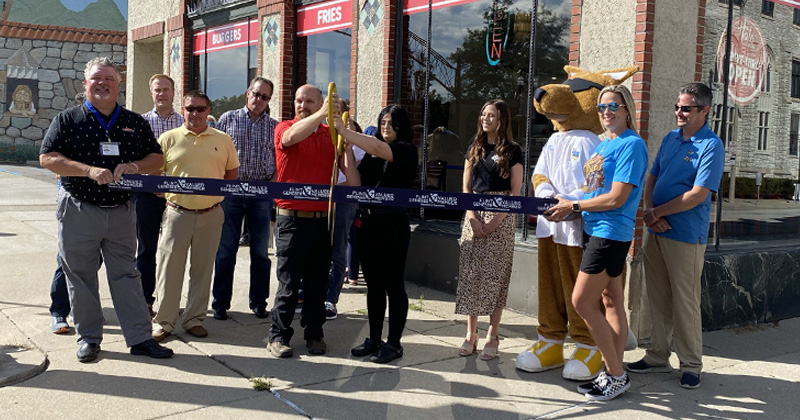 Rbboncutting at Halo Burger in downtown Flint